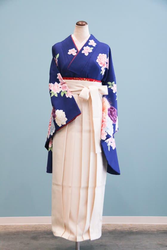 ブルーの卒業式袴