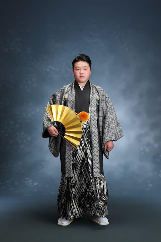 成人式用紋付袴