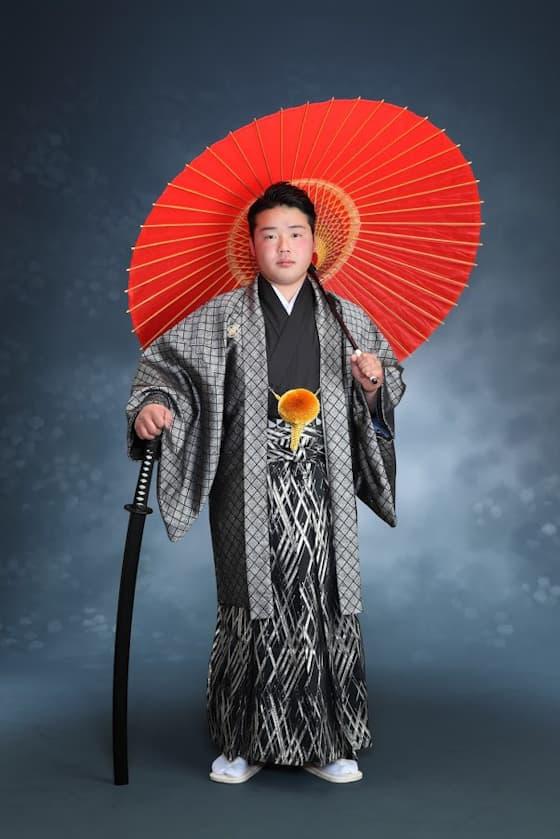 成人式袴 シルバー