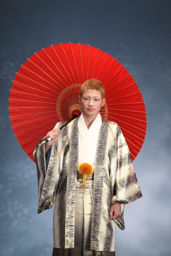 パイソン柄の成人式男性用紋付袴